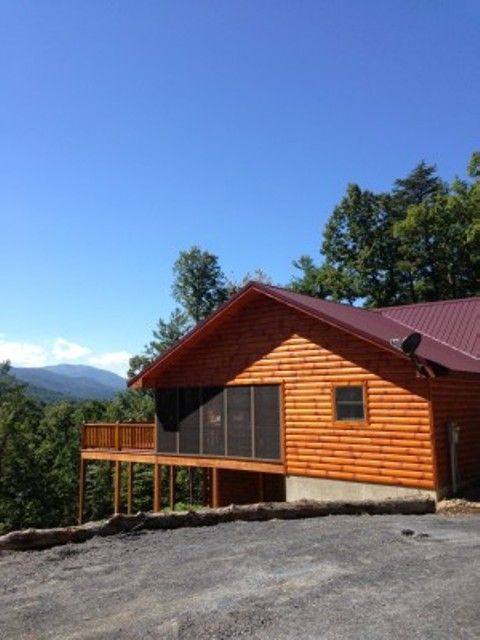 Summers dream log cabin close to luray homeaway for Log cabins in shenandoah valley