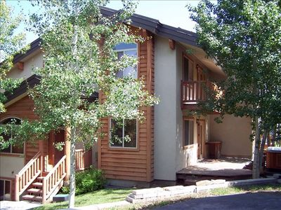 Deer Valley condo rental - Front Entrance/Back Deck and Balcony