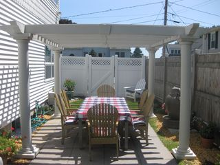 Ogunquit house photo - Outside patio with gas grill that seats eight.