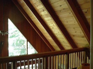 Dorrington cabin rental - Great Room with 20 foot ceilings