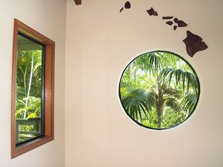 Princeville house photo - Decorative Window and Island Art