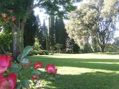 The garden of villa Poggio