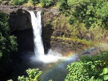 Go early to see Rainbow Falls at its best