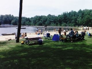 Shaded picnic areas! Just drop your cooler - Locust Lake chalet vacation rental photo