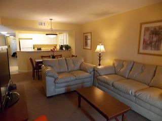 Grand Atlantic condo photo - Living room with new leather sofa, loveseat and 47' HDTV!