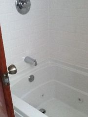 New bathroom with jetted whirlpool tub - Greenwood Lake house vacation rental photo