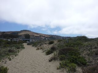 Morro Bay cottage photo - The walking path to Clositure's Beach, looking back toward neighborhood's.