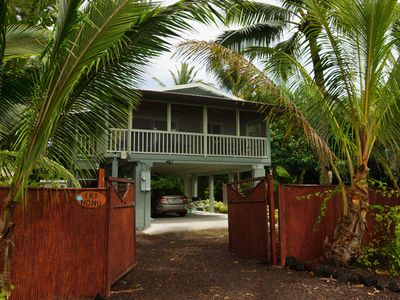 Kapoho studio rental - Welcome to Iki Honu. Photo by former guest Clive Schaupmeyer.
