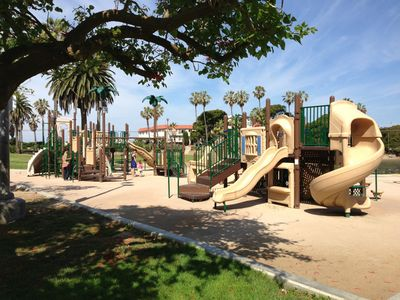 Playground by lagoon