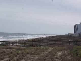 Carolina Beach condo photo - view south on beach