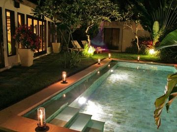 Villa Damai at night