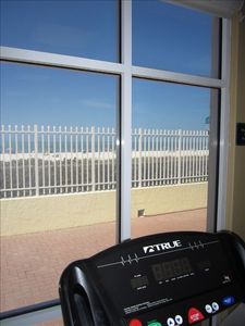 A great beach view -- even during your workout