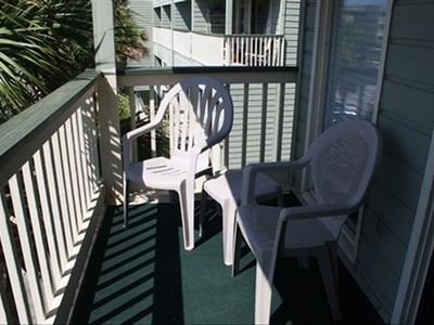 Seating on balcony