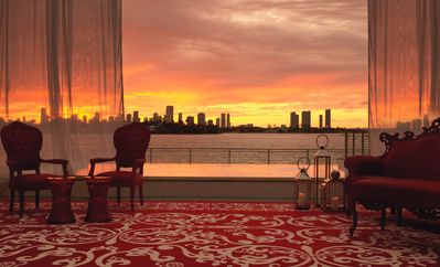 The Mondrian offers unique views of Biscayne Bay and the Miami skyline
