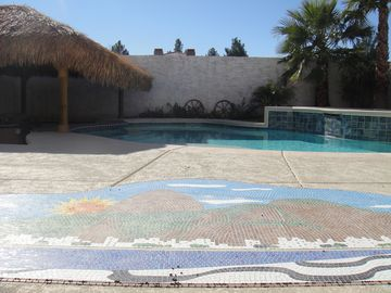 back yard with Rio Mosaic