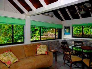 Saba house photo - Garden room den with sea view, TV DVD stereo