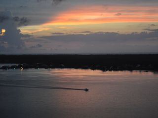 Gulf Shores condo photo - Another gorgeous sunset over the lagoon out back!