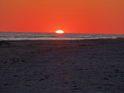 Sanibel Sunset from our beachfront!