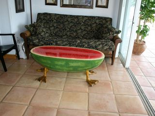 Marathon villa photo - Watermelon table with duck feet