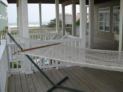 Take a nap on the hammock on the covered deck!