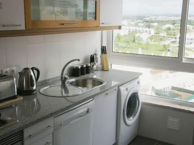 Armacao de Pera apartment rental - Fitted kitchen with stuning views of the country