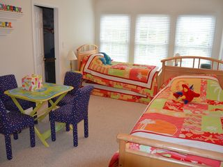 Ocean View villa photo - The Kid's room sleeps 4 with a large play area, attached private bath and closet