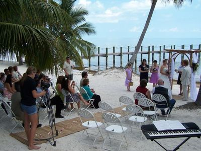 One of the many weddings performed on the beach at Sea Vista