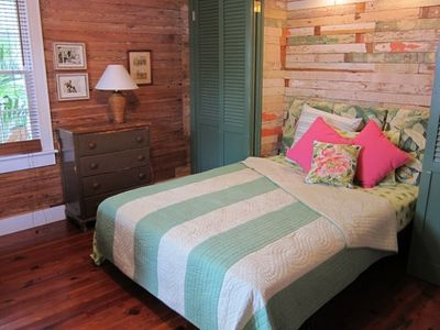 A queen-size Murphy bed turns the den/TV room into a comfortable bedroom.
