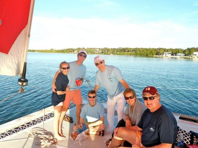 Take a boat charter for the whole family...