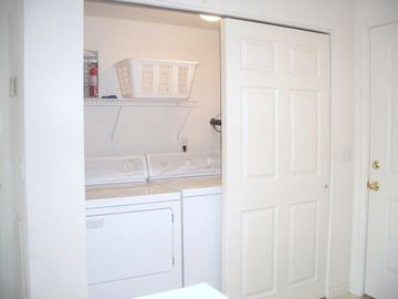 Pack lightly, we have a full sized washer and dryer!