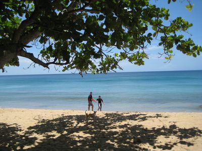 Rincon house rental - Two of our Guests on our Beach