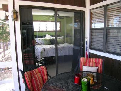 Beaver Lake house rental - Master Bedroom has access to deck!