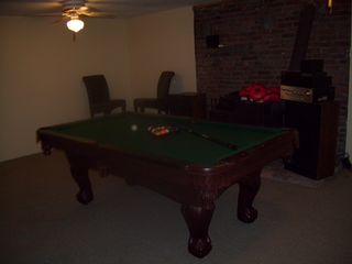 Lake Ariel house photo - Pool table~Lower Level Gameroom
