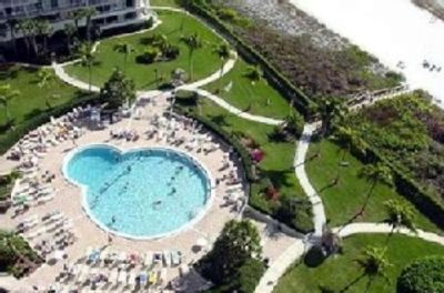 Upper View of Heated Pool and Beach