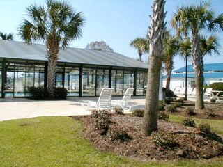 Garden City Beach house photo - Outdoor sunning at Indoor Pool