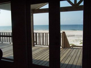 Fort Morgan house photo - Lovely view of beach from living area