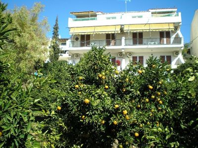 Christina Apartments surrounded by citrus trees