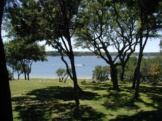 Canyon Lake house photo - View from back deck (overlooking 1 acre fenced property & Canyon Lake)