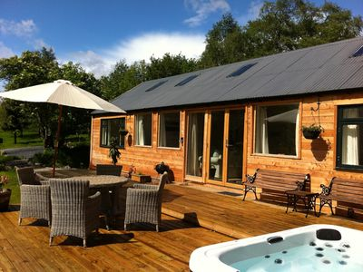 Oak cottage luxury log cabin with private hot tub and Log cabins with hot tubs scotland