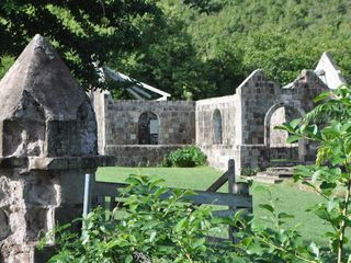 Nisbet Beach villa photo - Many beautiful ruins on Nevis. We will show you where!