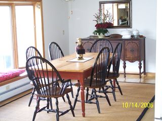 Stephentown farmhouse photo - Large table seats 8 with ease