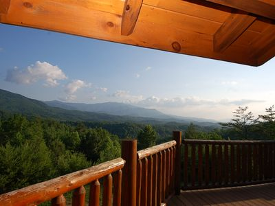 Fantastic mountain views from the decks