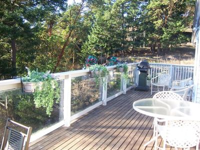 Relax on the large deck and enjoy the Beautiful Views with Complete Privacy