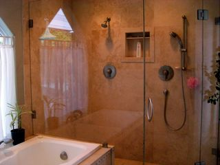 Laguna Beach house photo - Master Bath with Tub, Double Showers & Sinks