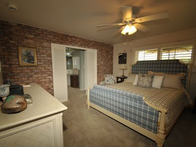 Master Bedroom with King Size bed and bath
