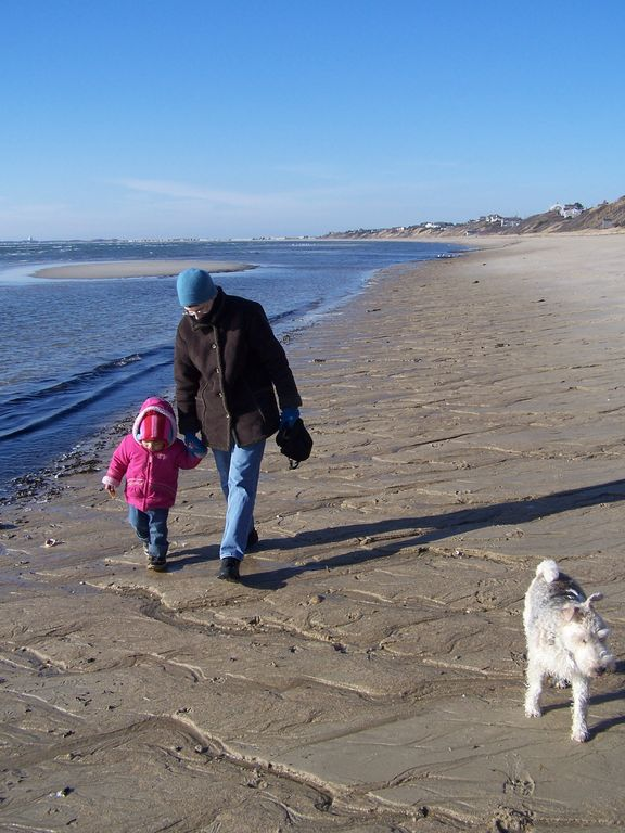 winter walk on our beach