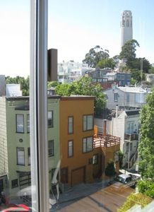 Coit Tower from the bedroom....