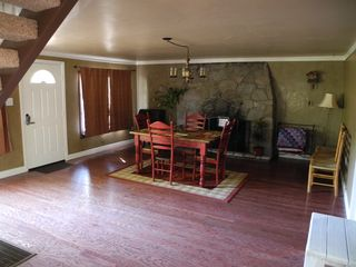 Lake Arrowhead cabin photo - Another view of dining area and fireplace
