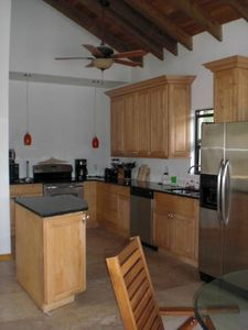 Full top of the line kitchen...oven,microwave,dishwasher, granite counters, ice