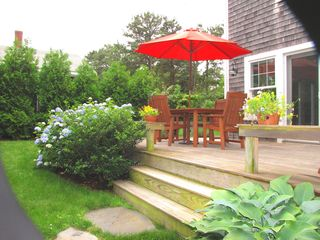 Oak Bluffs house photo - Spacious back deck with gas grill